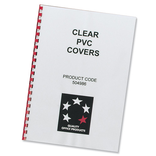 Clear Covers 200 Microns A4 PVC [Pack 100] | Protects your documents from damage and ensure durability | Fusion Office UK