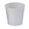 Round Metal Waste Bin Silver 15 Litres | Made of metal with scratch resistant epoxy paint | Modern Office Style | Fusion Office UK