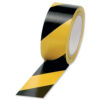 Hazard Tape Black & Yellow | Tape width is 50mm and 33 metres long | Made from PVC tape | Lane Marking Tape | Fusion Office