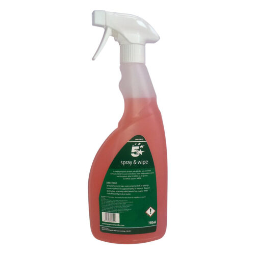 Catering Cleaner Spray 750ml   Kills 99.999% of all germs and is certified against MRSA   Spray neat onto surface   Fusion Office