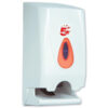 Twin Toilet Rolls Dispenser White   Easy to use restock & maintain   Uses standard domestic toilet rolls   Fusion Office