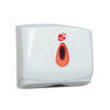 Hand Towel Dispenser Small White | Enables the use of interleaved C-fold Z-fold towels | Lockable | Fusion Office