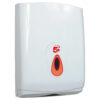 Hand Towel Dispenser Large White | Enables the use of interleaved C-fold Z-fold towels | Lockable | Fusion Office