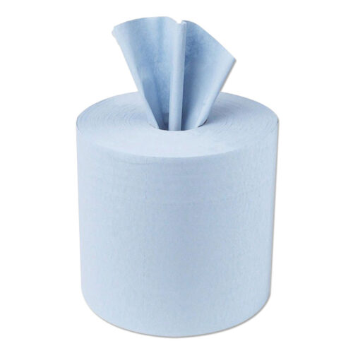 Blue Rolls 1 Ply Centrefeed Hand Towels [Pack 6]   Strong and absorbent 1-Ply blue paper   Food contact approved   Fusion Office