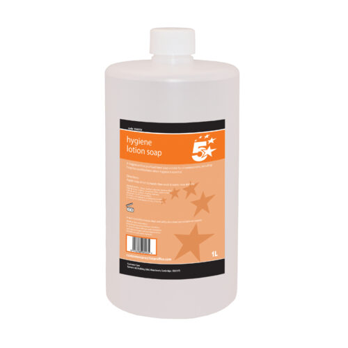 Hygiene Lotion Hand Soap 1 Litre   Prevents germs and cross-contamination   Ideal for use in dispensers   Fusion Office