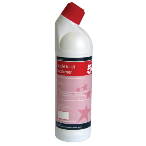 Toilet Freshener Apple 1 Litre | removes soils and limescale, mineral deposits and eliminates odour | Fusion Office