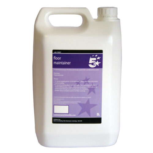 Floor Maintainer Liquid 5 Litres | For use on floors previously coated with metallised floor polish | Fusion Office