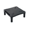 Monitor Riser Stand Adjustable Black | Height adjustable | Made from sturdy plastic | Non-skid platform | Fusion Office