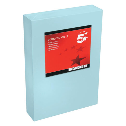 Card A4 Medium Blue 160gsm (250 Sheets) Ream   Colour code documents for ease of filing & identification   laser & Inkjet   Fusion Office UK