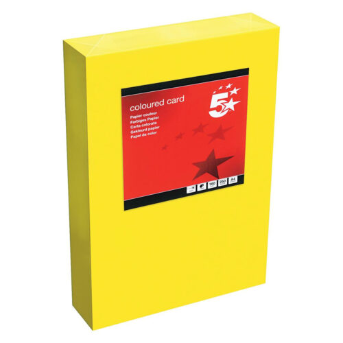 Card A4 Deep Yellow 160gsm (250 Sheets) Ream | Colour code documents for ease of filing & identification | laser & Inkjet | Fusion Office UK