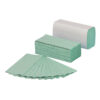 Z-Fold Hand Towels Green 1 Ply [3000] | Dries hands hygienically & efficiently | Soft, absorbent & strong | Fusion Office
