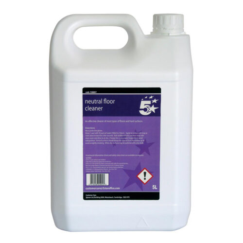 Neutral Floor Cleaner Liquid 5 Litres | An effective cleaner on most types of floors and hard surfaces | Fusion Office