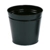 Round Metal Waste Bin Black 15 Litres   Made of metal with scratch resistant epoxy paint   Modern Office Style   Fusion Office UK