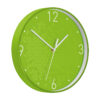 Leitz WOW Wall Clock Green 90150054 | Constructed with robust dual colour plastic frame and glass front | Big numbers | Fusion Office UK