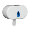 Micro Jumbo Roll Dispenser | Holds 2 toilet rolls | Accepts micro jumbo rolls | Robust ABS plastic | Easy Clean | Fusion Office