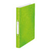 Leitz WOW Ring Binders Green A4 42410054 [Pack 10]   Made from board covered in glossy high quality laminated paper   Fusion Office UK