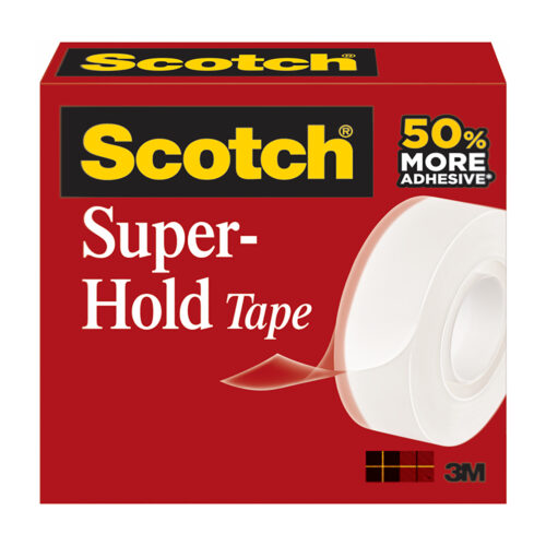 3M 700K-EU Scotch Super-Hold Secure Tape 19mm x 16.5m   Great for securely sealing important documents and packages   Fusion Office UK