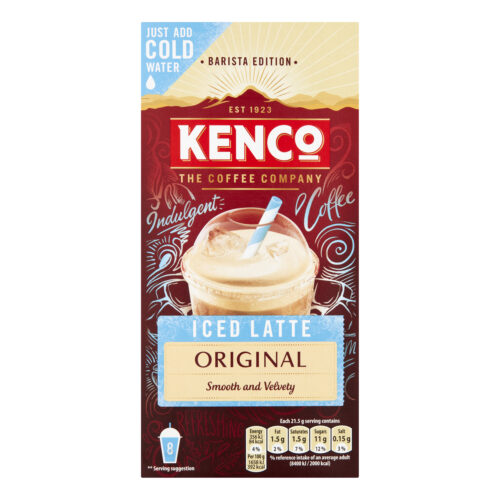Kenco Iced Latte Coffee Instant Sachets [Pack 8 x 5] (40) | A touch of sweetness and irresistible milkiness | Fusion Office