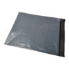 Grey Mailing Bags 450x460mm 80% Recycled [100] | Tough grey poly mailing bag | Peel & seal | 45 Microns Polythene Mailers | Fusion Office