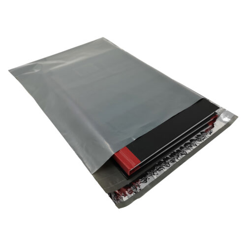 Grey Mailing Bags 235x320mm 80% Recycled [100]   Tough grey poly mailing bag   Peel & seal   45 Microns Polythene Mailers   Fusion Office