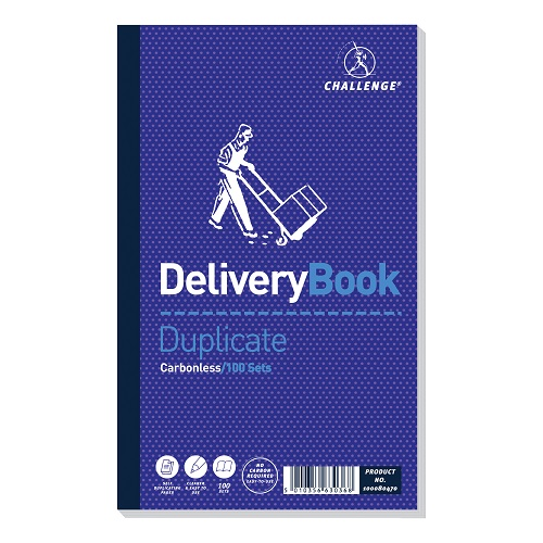 Challenge Delivery Books Duplicate 100080470 [Pack 5] | Make instant copies of your hand written delivery notes | Fusion Office UK