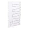 Concord Plastic Index A4 1-10 Dividers Punched Polypropylene 64101 | 120 micron polypropylene | Durable & stain resistant | Fusion Office UK