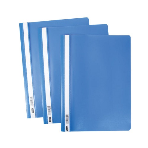 Elba Report Folders A4 Blue 400055030 [Pack 50] | Made from strong polypropylene, they have a clear front cover | Fusion Office UK