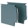 Lateral Suspension Files 275mm 30mm Green [50]   Premium quality 180gsm manilla   30mm wide base   Fusion Office