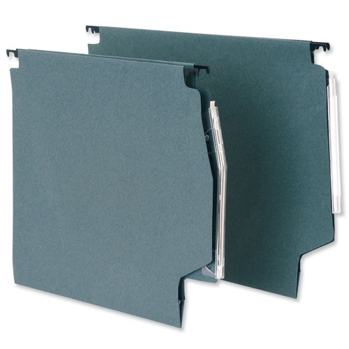 Lateral Suspension Files 275mm 30mm Green [50] | Premium quality 180gsm manilla | 30mm wide base | Fusion Office