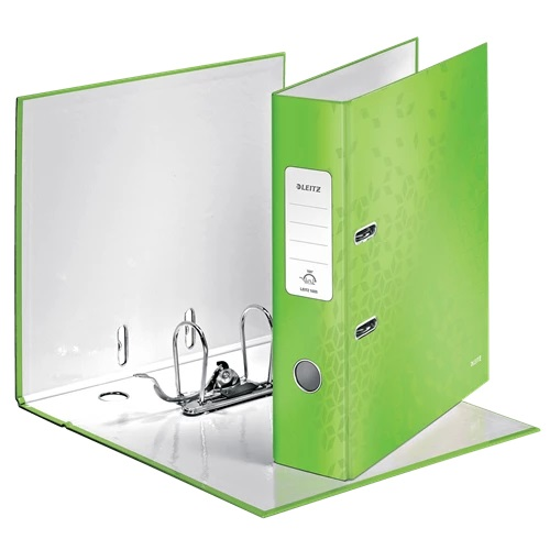 Leitz WOW Lever Arch Files Green A4 10050054 [Pack 10]   Unique patented mechanism that opens 180°   5 Year Guarantee   Fusion Office UK