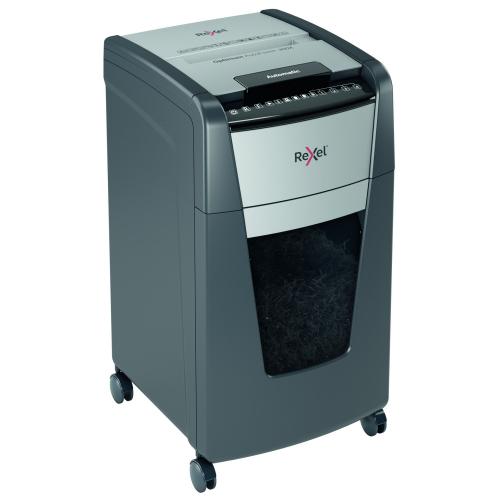 Rexel Optimum 300X P4 Shredder AutoFeed+ 2020300X P-4 cross cut (4x25mm)   60L capacity pull out bin   Fusion Office