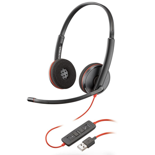 Poly Blackwire C3220 Headset USB-A 209745-201   Durable & lightweight   Corded UC headsets   Fusion Office