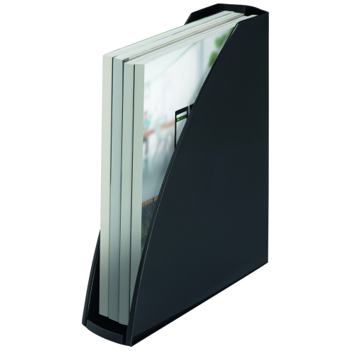Leitz Recycle Magazine File Black C02 neutral 53260095   Certified carbon neutral by Climate Partner   Fusion Office