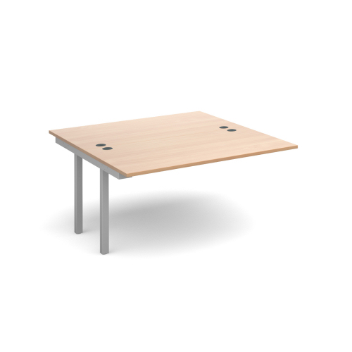 Connex add on units back to back 1200mm x 1600mm Silver frame Beech top DAMS CO1216-AB-S-B   Fusion Office