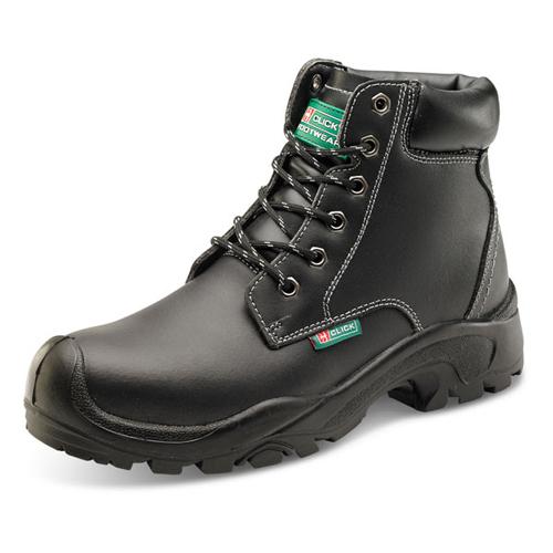 Safety Boots Size 12 EU47 Black | 200 Joule steel toe cap | Steel midsole protection | Shock absorber heel | Fusion Office