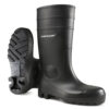 Safety Wellington Boots Size 8 EU42 Black | Dunlop Protomaster | Full Safety PVC Wellingtons | Steel Toe Cap & Mid Sole | Fusion Office