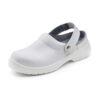 White Slippers Shoes Size 12 EU47   Removable belt   200 Joule steel toe cap   Shock absorber heel   Fusion Office