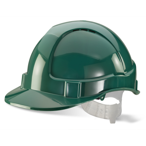 Safety Helmet Green Vented BBEVSHG | Safety Hard Hat Green | ABS Shell | Vents to crown | Lightweight | Fusion Office