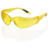 Yellow Safety Spectacles Vegas BBVSS2Y   Yellow Safety Glasses   Polycarbonate wrap around lens & one piece side arms   Fusion Office