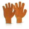 Criss Cross Gloves XL Orange [10] | Gripper Gloves | Knitted base with elasticated wrists | PVC coating | Fusion Office