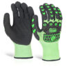 Glovezilla Foam Gloves Medium Nitrile Coated [Pair] | Lightweight | 100% TPR back of hand protection | Fusion Office