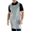 Disposable Apron White 42x27in DA42DP [1000] | Halter neck and ties around the waist | 107x69mm approx | Fusion Office