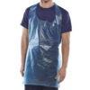Disposable Aprons Blue 42x27in DAB42DP [1000] | Halter neck and ties around the waist | 107x69mm approx | Fusion Office