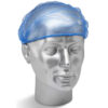 Disposable Detectable Hair Nets Blue [100]   Metal Detectable   Made from 5mm hairnet polypropylene   Fusion Office