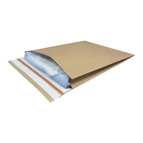 Paper Mailing Bags 400x500x50mm V Bottom with side gusset [50] | Tear strip and perforation | Kraft Mailing Bags | Fusion Office