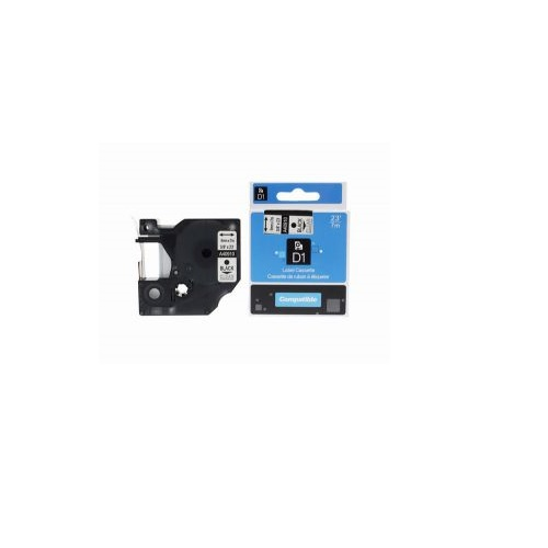 Label Cassette Tape Self Adhesive Black on Clear 9mm x 7m Compatible with Dymo D1 40910   Guaranteed   Fusion Office