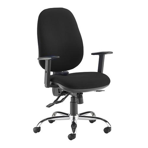 Jota ergo 24hr ergonomic asynchro task chair Black DAMS JXERGOB-BLK   24 hour seating with height adjustable arms   Fusion Office