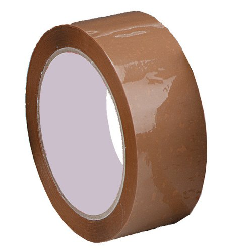 Packaging Tapes Buff 48mm x 66m [Box 36] | Budget Acrylic Buff Tape | Organic solvent free & eco-friendly | Fusion Office
