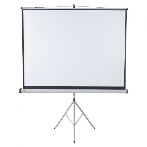 Nobo Tripod Screen 1750x1325mm 4:3 1902396 | Brilliant matt white projection screen surface for high quality projection | Fusion Office UK