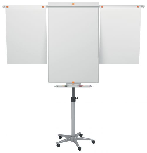 Nobo Classic Nano Mobile with Arms Easel 1901920   Height adjustable mobile base with locking castors for maximum stability   Fusion Office UK